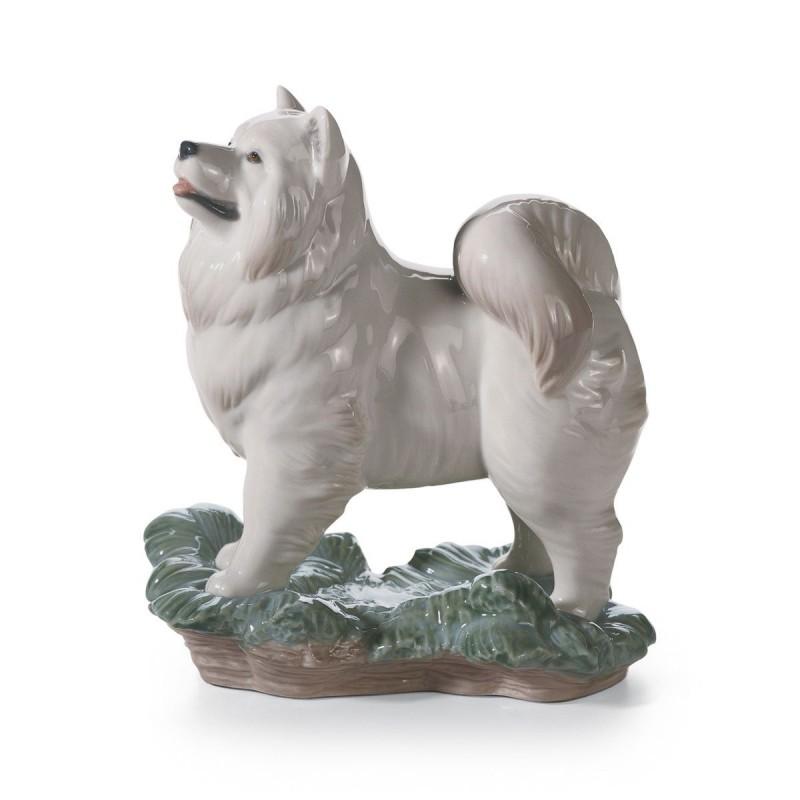 Figura de porcelana de Lladró El Perro (blanco)