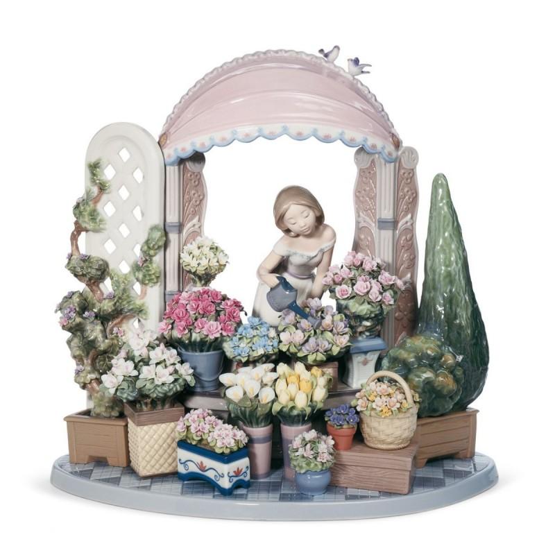 Figura de porcelana de Lladró Florecer romántico