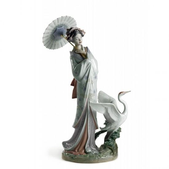 Figura de porcelana de Lladró Estampa japonesa