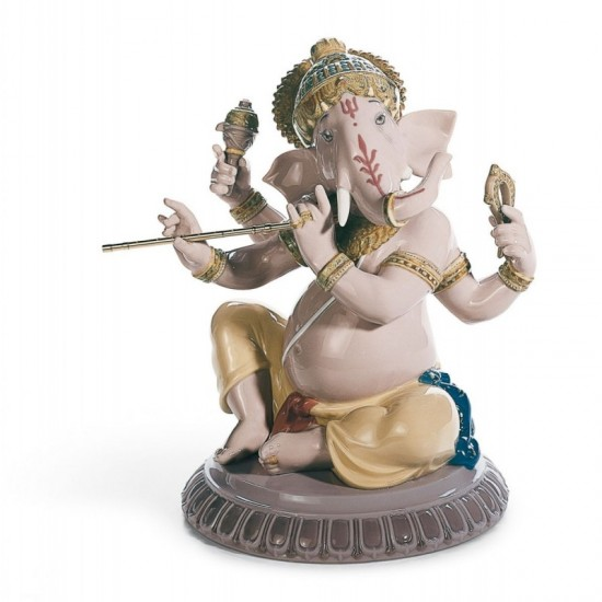 Ganesha with bansuri