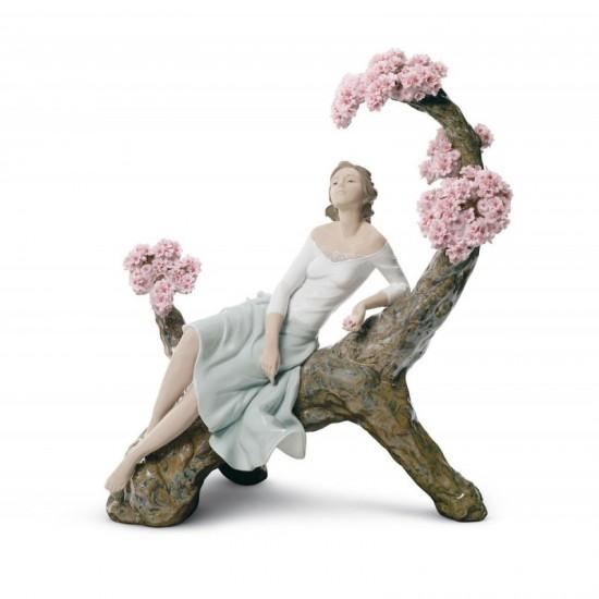 Figura de porcelana de Lladró Estación florida - dama