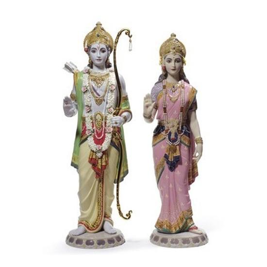 Figura de porcelana Lladró Rama y Sita