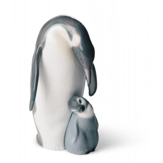 Pingüino con cría