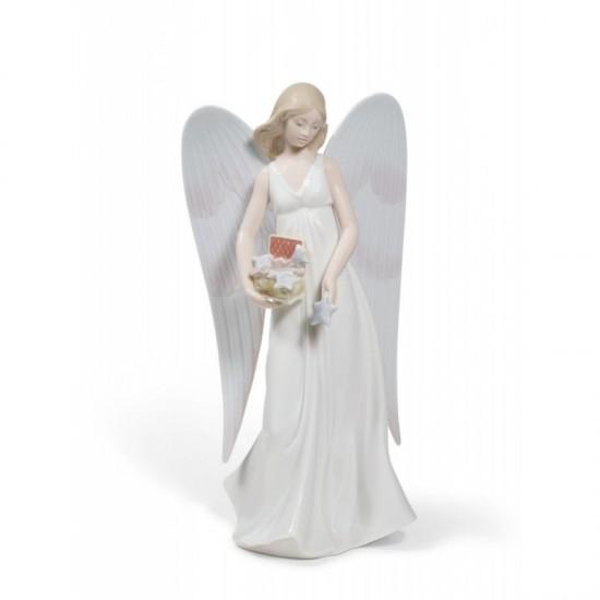 Figura de porcelana de LladróEl Ángel de la nieve (Tree Topper)