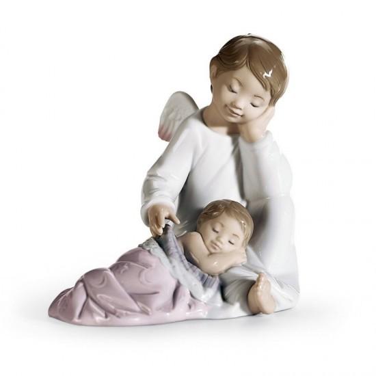 Figura de porcelana de Lladró Mi ángel de la guarda (rosa)