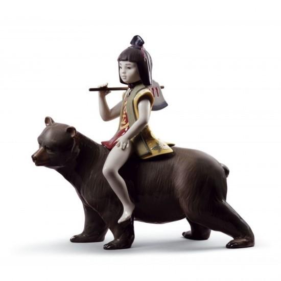 Figura de porcelana de Lladró Kintaro y el oso