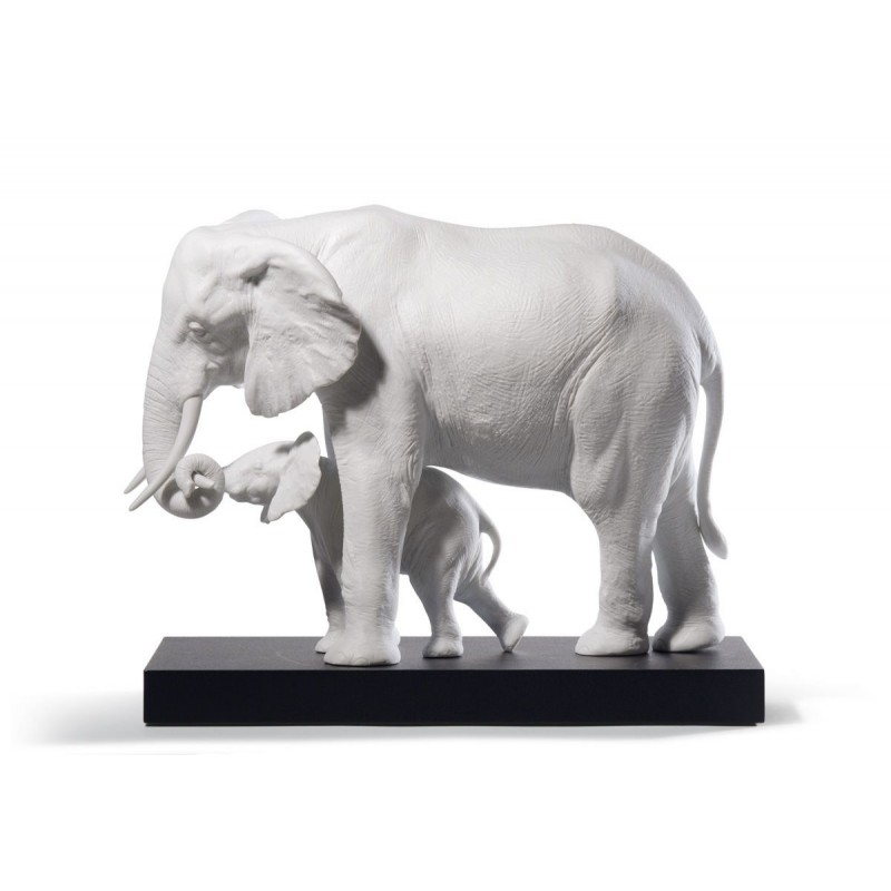 Figura de porcelana de Lladró Mostrando el camino (blanco)