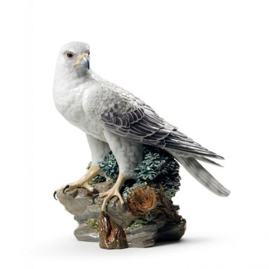 Figura de porcelana de Lladró Halcón gerifalte
