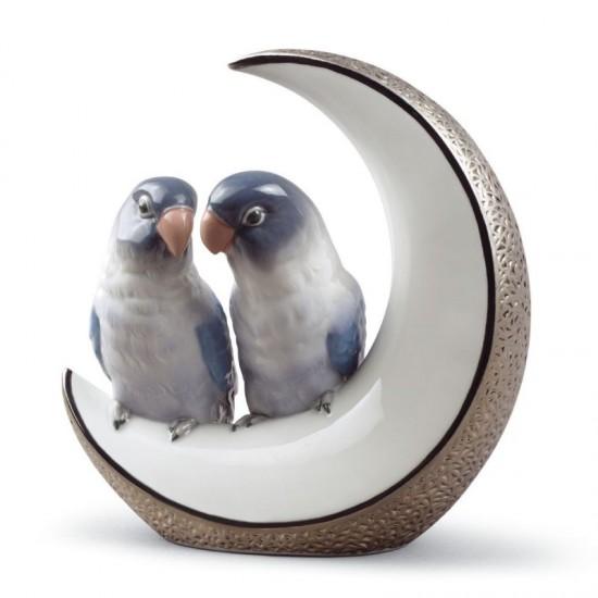 Figura de porcelana de Lladró Llévame a la luna (plata)
