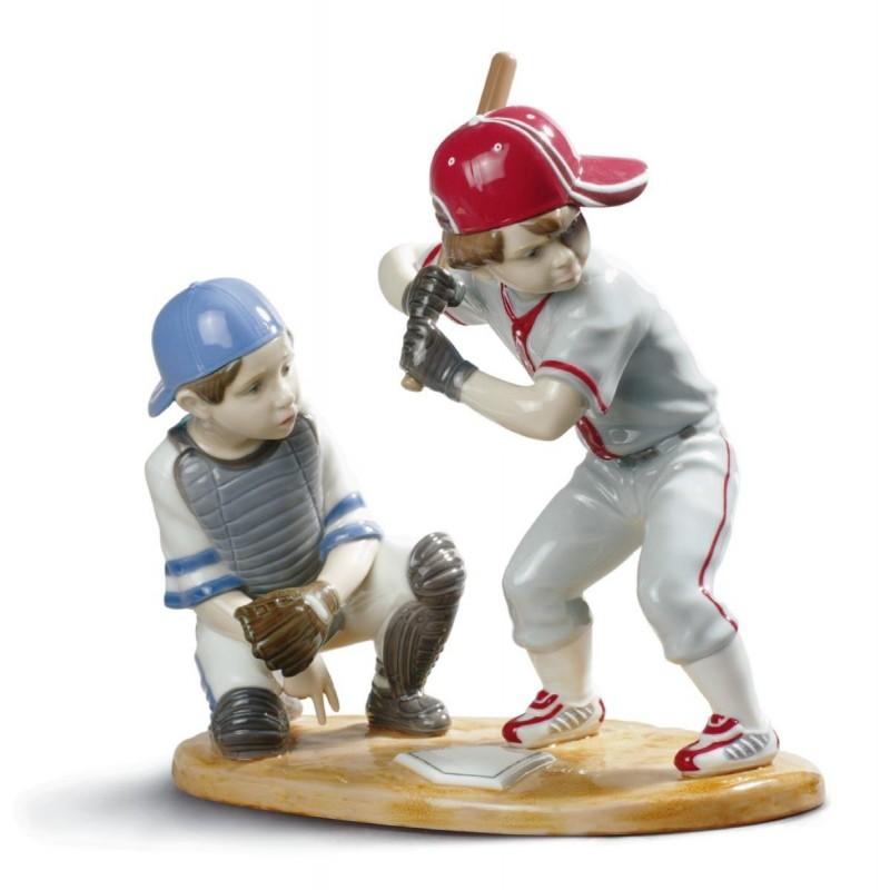 Figura de porcelana de Lladró Jugadores de béisbol