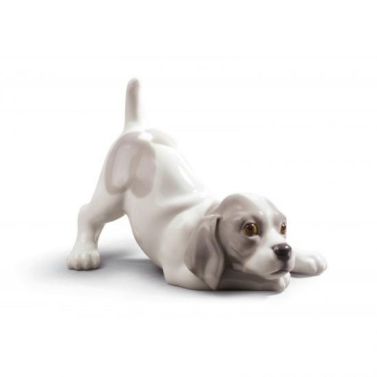 Figura de porcelana de Lladró Perro retozón