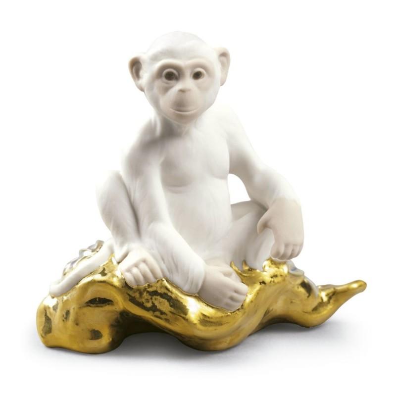 Figura de porcelana de Lladró El mono - Mini