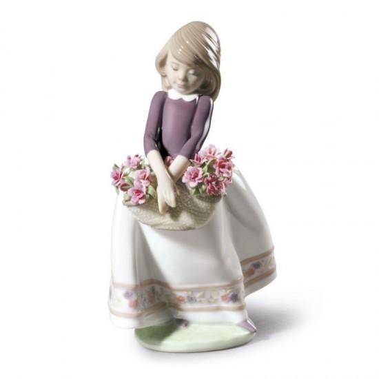 Figura de porcelana de Lladró Dulcemente tímida (edición especial)