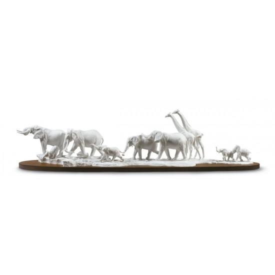 Figura de porcelana Lladró Sabana africana