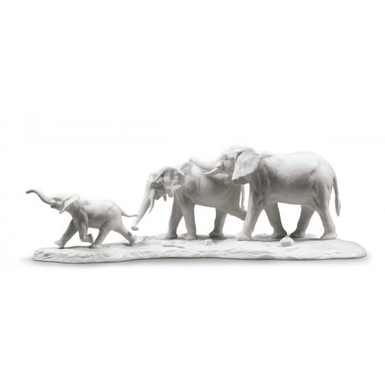 Figura de porcelana de Lladró Seguimos tus pasos (blanco)