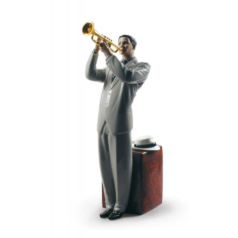 Figura de porcelana de Lladró Trompetista de Jazz