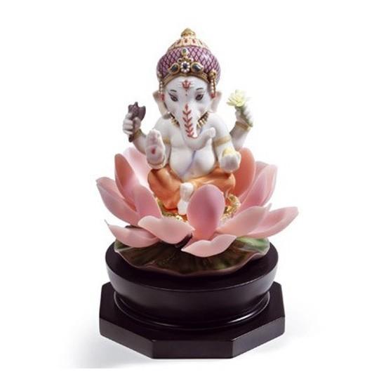 Figura de porcelana Lladró Ganesha Sobre Loto
