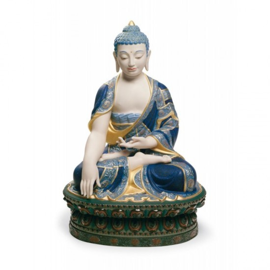 Figura de porcelana Lladró Buda Shakyamuni (dorado)