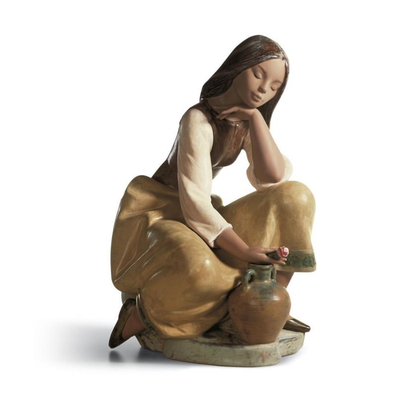 Figura de porcelana de Lladró Cantarera clásica