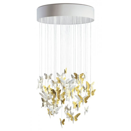 Chandelier Niagara 0.80m dorado (CE/UK)