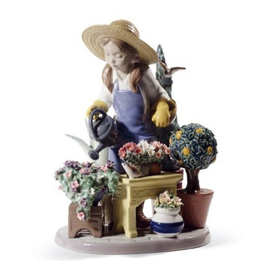 Figura de porcelana de Lladró En el Invernadero
