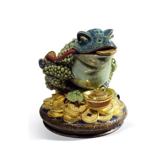 Figura de porcelana de Lladró Rana de la Abundancia