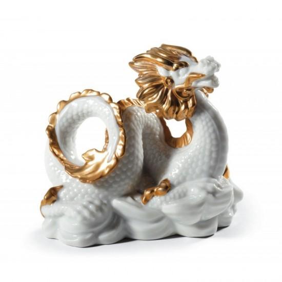 Figura de porcelana Lladró El Dragón (blanco) - WB