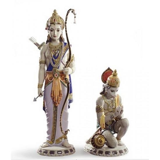Figura de porcelana Lladró Lakshman y Hanuman