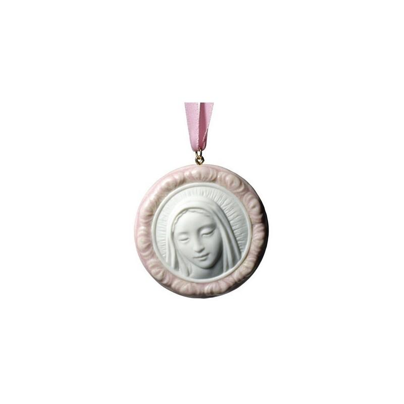 Medalla protectora - Virgen María (rosa)