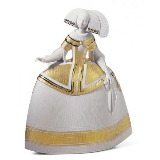 Figura de porcelana de Lladró Menina Gold