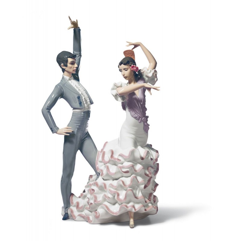 A Passionate Dance Flamenco Couple Figurine
