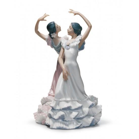 Figura de porcelana de Lladró Por Sevillanas