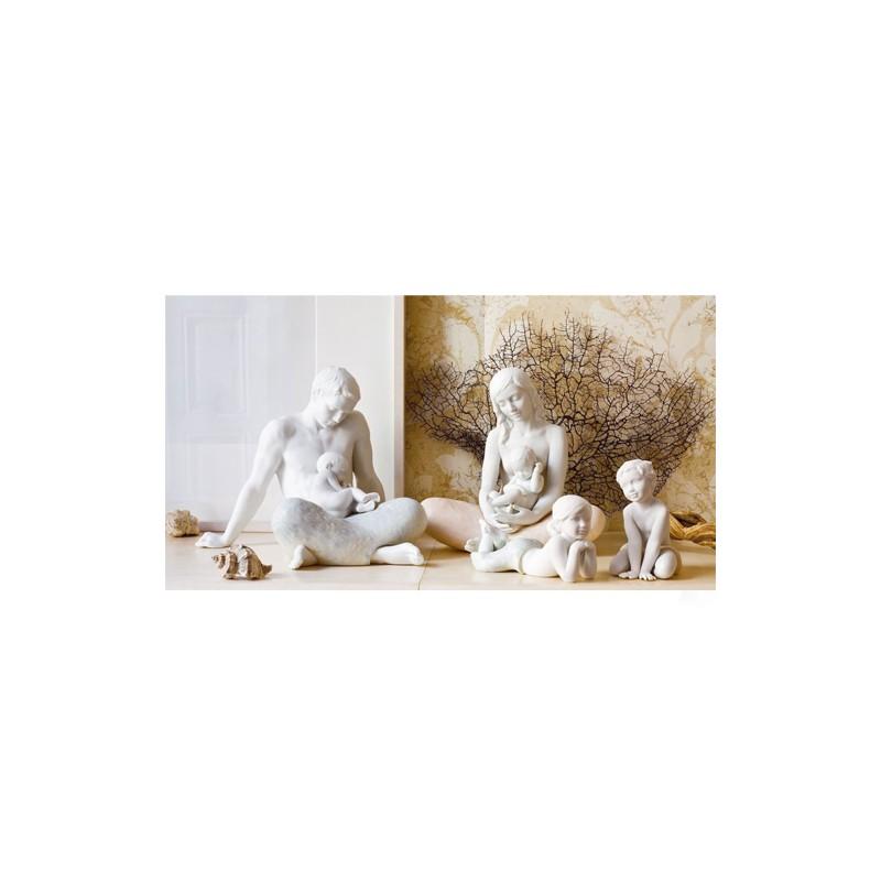Figura de porcelana de Lladró El Hijo - Familia