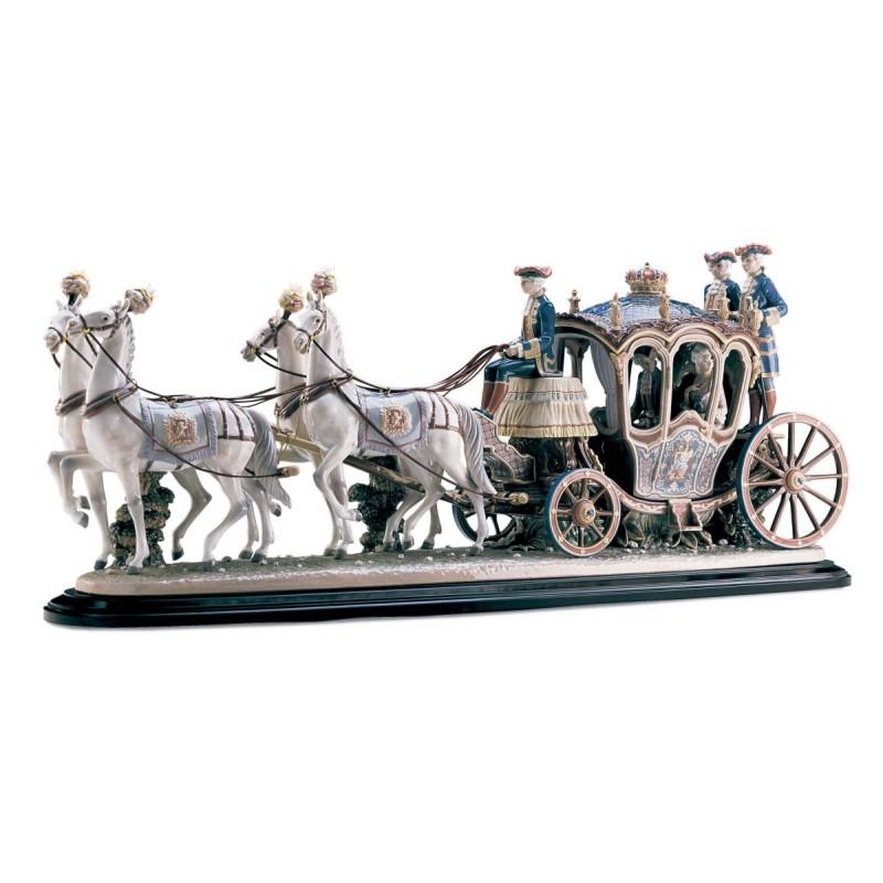 Figura de porcelana de Lladró Carroza Siglo XVIII