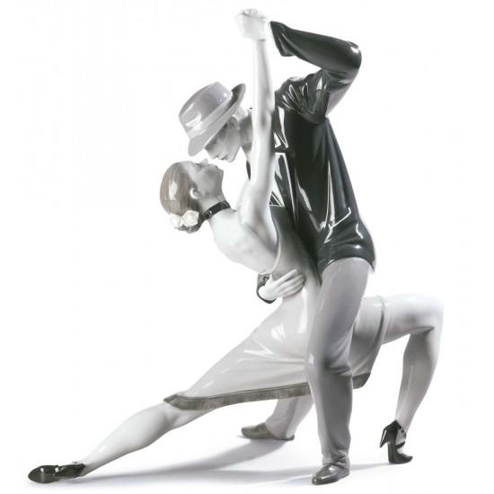 Figura de porcelana Lladró Tango Apasionado - Noir