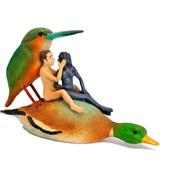Couple in a duck