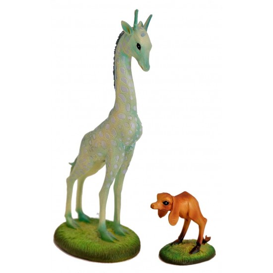The giraffe and the dog