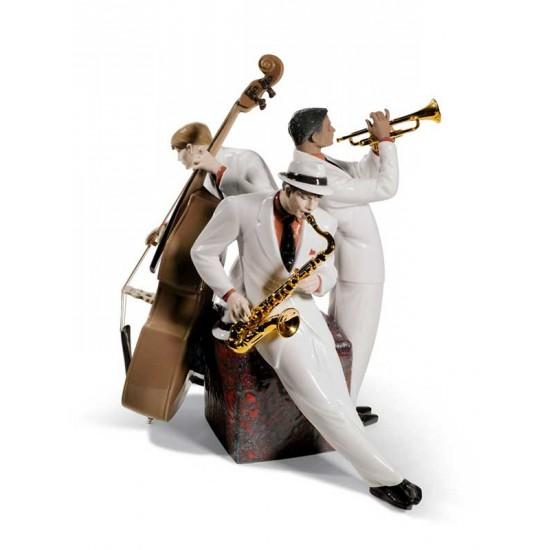 Figura de porcelana de Lladró Trío de Jazz