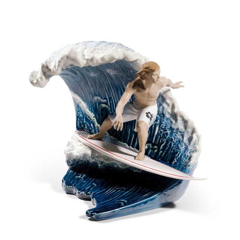 Figura de porcelana de Lladró En la Gran Ola