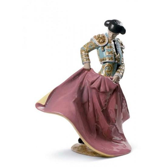 Figura de porcelana de Lladró Maestro Torero (Verde)