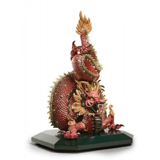 Figura de porcelana Lladró Dragón protector (rojo)