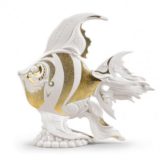 Figura de porcelana de Lladró Pez escalar