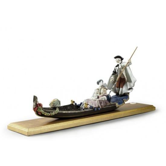 Figura de porcelana Lladró Góndola en Venecia