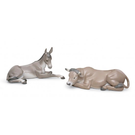 Set animales de Belén (porcelana)