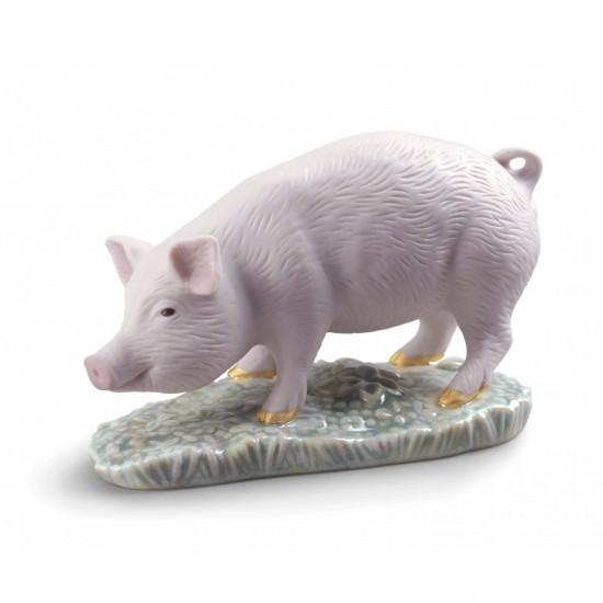 Figura de porcelana de Lladró El Cerdo-Mini