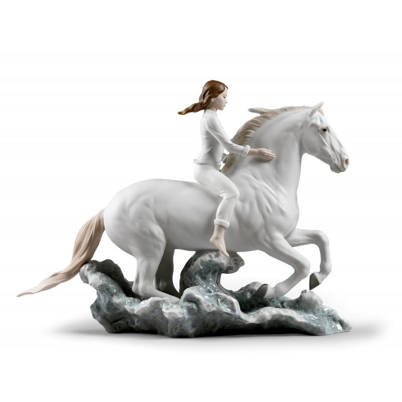 Figura de porcelana de Lladró Galope en el mar