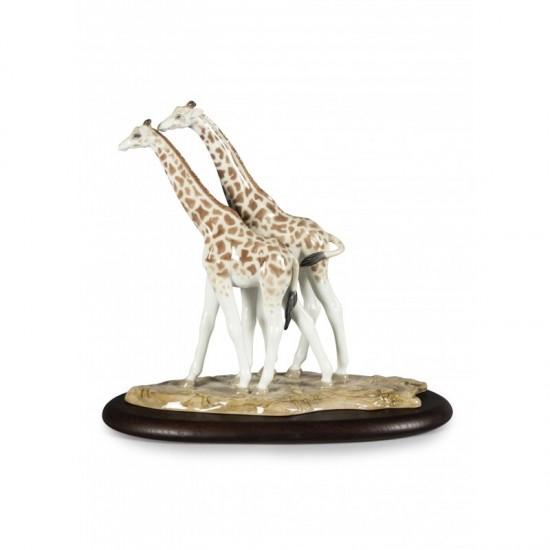 Figura de porcelana de Lladró Jirafas