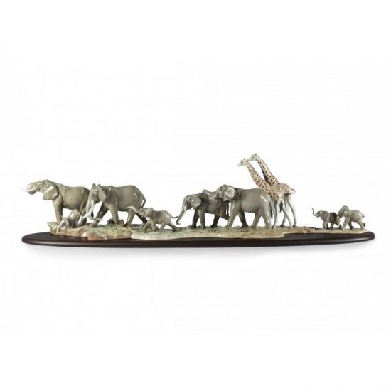 Figura de porcelana de Lladró Sabana africana