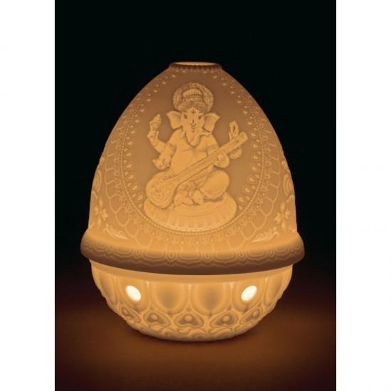 Litofanía Ganesha con Veena (led rec.)