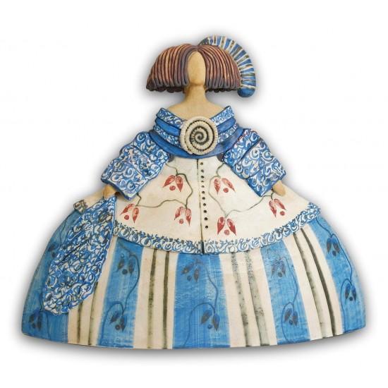 Menina de cerámica de Rosa Elordui, modelo M6 Vestido azul